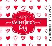 valentine's day vector... | Shutterstock .eps vector #543169627