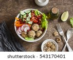 baked quinoa meatballs and... | Shutterstock . vector #543170401