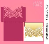 die laser cut wedding card... | Shutterstock .eps vector #543170719
