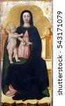 Small photo of POREC, CROATIA - DECEMBER 12: Antonio Vivarini: Virgin and Child, Altarpiece in Euphrasian Basilica in Porec, Croatia on December 12, 2011
