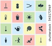 set of 16 editable farm icons....