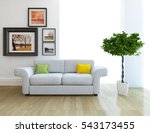 white room with a sofa. living... | Shutterstock . vector #543173455