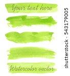 set of watercolor backgrounds.... | Shutterstock .eps vector #543179005