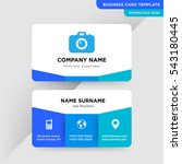 template of business card for...   Shutterstock .eps vector #543180445