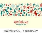vintage vector merry christmas... | Shutterstock .eps vector #543182269