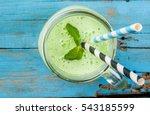 refreshing summer green... | Shutterstock . vector #543185599