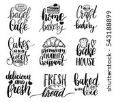 vector set of vintage bakery... | Shutterstock .eps vector #543188899