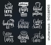 vector set of vintage bakery... | Shutterstock .eps vector #543188905
