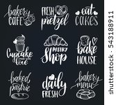 vector set of vintage bakery... | Shutterstock .eps vector #543188911
