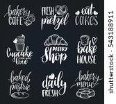 vector set of vintage bakery... | Shutterstock .eps vector #543188911
