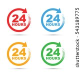 twenty four hour icon set | Shutterstock .eps vector #543189775