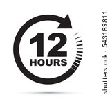 twelve hour icon | Shutterstock .eps vector #543189811