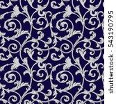 seamless pattern  baroque ... | Shutterstock .eps vector #543190795