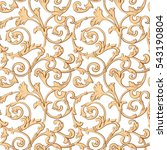 seamless pattern  baroque ...   Shutterstock .eps vector #543190804