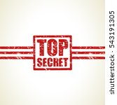 top secret icon stamp | Shutterstock .eps vector #543191305