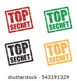 top secret icon stamp set | Shutterstock .eps vector #543191329