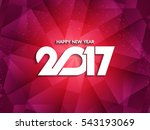 abstract modern new year 2017... | Shutterstock .eps vector #543193069