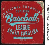 vintage varsity graphics and... | Shutterstock .eps vector #543195829
