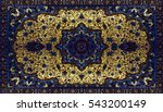 persian carpet texture ... | Shutterstock . vector #543200149