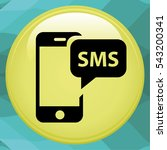 phone sms icon | Shutterstock .eps vector #543200341