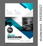 blue business brochure design...   Shutterstock .eps vector #543202027