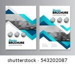 blue business brochure design... | Shutterstock .eps vector #543202087