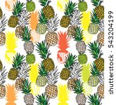 seamless pattern with... | Shutterstock .eps vector #543204199