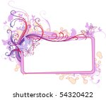 glamour banner with a place for ... | Shutterstock .eps vector #54320422