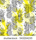 seamless pattern with... | Shutterstock .eps vector #543204235