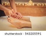 skillful beautician undergoing... | Shutterstock . vector #543205591