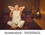 calm girl stretching her body... | Shutterstock . vector #543205621