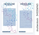 leaflet flyer layout. magazine... | Shutterstock .eps vector #543206965