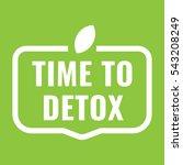 time to detox badge  icon. flat ...