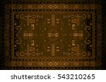 persian carpet texture ... | Shutterstock . vector #543210265