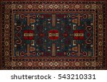persian carpet texture ... | Shutterstock . vector #543210331