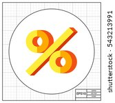 sign percent icon | Shutterstock .eps vector #543213991