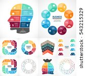 vector circle infographic... | Shutterstock .eps vector #543215329