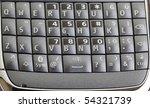modern pda smart phone keyboard ...   Shutterstock . vector #54321739