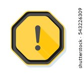 exclamation danger sign | Shutterstock . vector #543226309