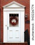 white vintage entry door in new ... | Shutterstock . vector #543226774