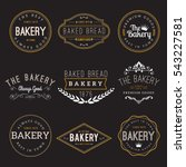 bakery badge design set | Shutterstock .eps vector #543227581