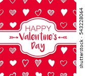 valentine's day vector... | Shutterstock .eps vector #543228064
