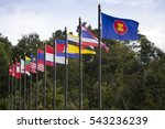 Small photo of flags of southeast asia countries,ASEAN Economic Community