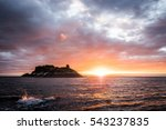 Stock photo island sunset dark 543237835