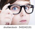 portrait of a boy wearing... | Shutterstock . vector #543242131