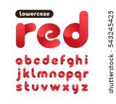 rounded font. vector alphabet... | Shutterstock .eps vector #543245425