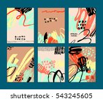 set of artistic creative cards... | Shutterstock .eps vector #543245605