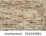 Old Brick Wall With Cracks And...