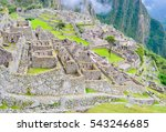 Ancient Ruins Of Machu Picchu...
