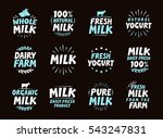 fresh milk set logo  label ... | Shutterstock .eps vector #543247831